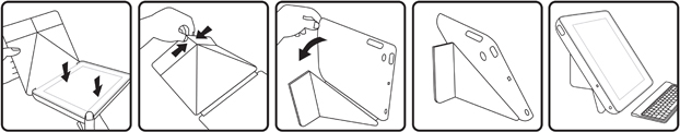 Folio Pro with Bluetooth® keyboard for iPad & iPad 2 - English keyboard